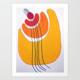 Pebble Hugs Art Print
