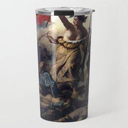 Liberty Leading the People by Eugène Delacroix (1830) Travel Mug