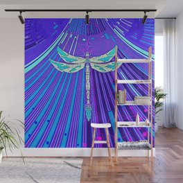 Electric Charged Zinger Dragonfly  Wall Mural