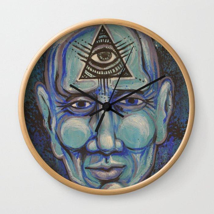 Third eye Wall Clock