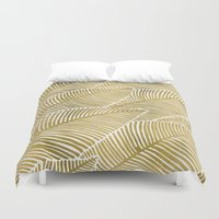 tropical Duvet Covers featuring Tropical Gold by Cat Coquillette