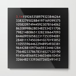 pi red - never ending story Metal Print