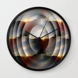 Layers of Sunsets... Wall Clock