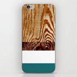 Wood Grain Print iPhone Skin