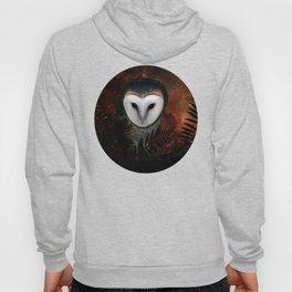 Barn owl at night Hoody
