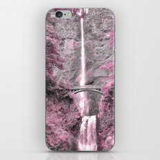 PRETTY IN PINK - MULTNOMAH FALLS iPhone & iPod Skin
