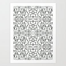 Abstract pattern 91A Art Print
