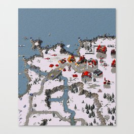 Red Alert In-Game Canvas Print