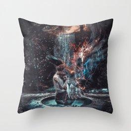 Salvation has fallen gothic Throw Pillow
