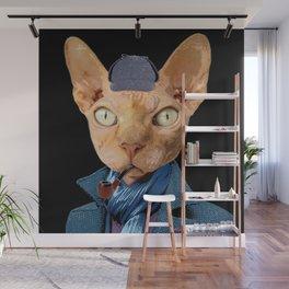 Cat Sherlock Holmes Wall Mural