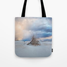 Adrift - Lone Tree In White Sands New Mexico Tote Bag