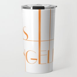 Los Angeles Deco Print Travel Mug