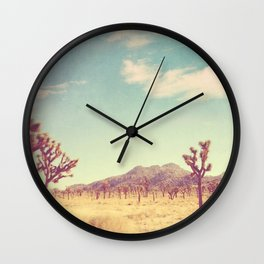 Joshua Tree photograph, desert print, No. 189 Wall Clock