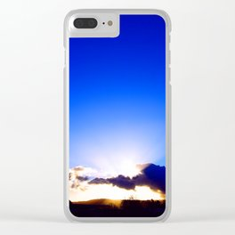 """""""Flickering Sunset"""" with poem: There Are Moments Clear iPhone Case"""