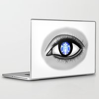 starbucks Laptop & iPad Skins featuring Starbucks Eye by Miguel Angel