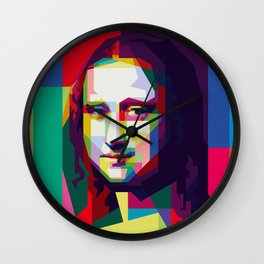 Monalisa Geometric WPAP Art Wall Clock