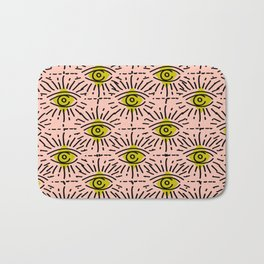 Dainty Seeing Eye Pattern in Chartreuse Bath Mat