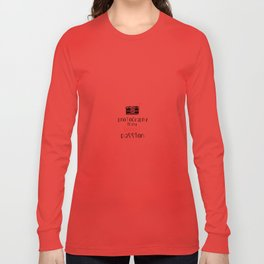 Photography is My Secret Passion design Long Sleeve T-shirt