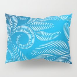 Coold Winter Blue Frosted Window design pattern Pillow Sham