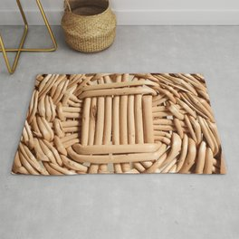 Wicker basket Rug