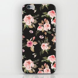 Pink flowering in the dark I iPhone Skin