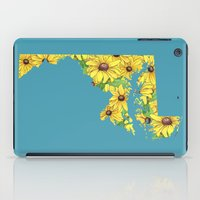 maryland iPad Cases featuring Maryland in Flowers by Ursula Rodgers
