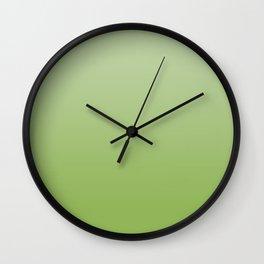 Ombré Greenery Wall Clock