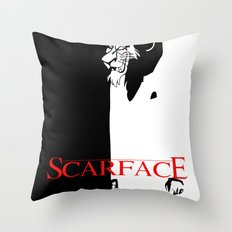 Scar Face Throw Pillow