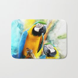 Macaw friends Bath Mat