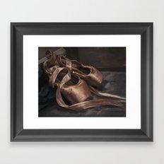 Ballet Shoes Framed Art Print