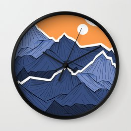 The mountains under the two suns Wall Clock