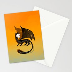 Black Stoat Stationery Cards