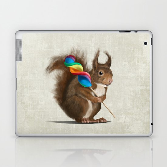 Squirrel with lollipop Laptop & iPad Skin