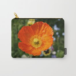 Orange Glowing Poppy by Mandy Ramsey, Haines, Alaska Carry-All Pouch