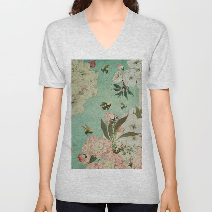 Cherry Blossoms Unisex V-Neck