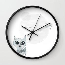 Milo Moon // little black lines Wall Clock