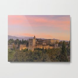 The Alhambra, Granada Spain Metal Print