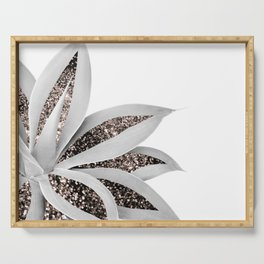 Agave Finesse Glitter Glam #1 #tropical #decor #art #society6 Serving Tray