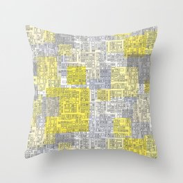 city blocks  Throw Pillow