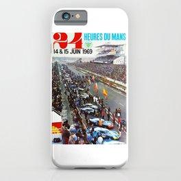 1969 Le Mans poster, Race poster, Car poster, vintage poster iPhone Case