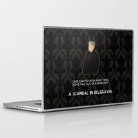 scandal Laptop & iPad Skins featuring A Scandal in Belgravia - Greg Lestrade by MacGuffin Designs