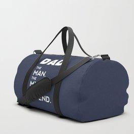 DAD, The Man, The Myth, The Legend, Dad t shirt, navy blue version Duffle Bag