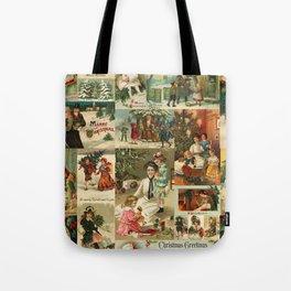 Vintage Victorian Christmas Collage Tote Bag