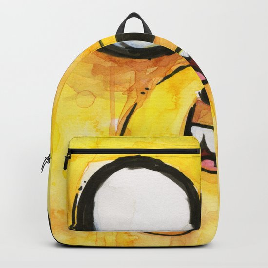 Jake Face Yellow Dog Cartoon Character Backpack