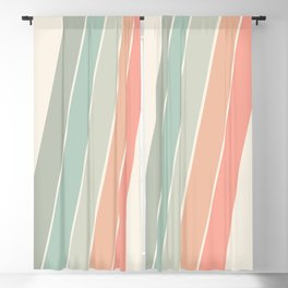 Trippin' - retro 70s socal minimal striped abstract art california surfing vintage Blackout Curtain