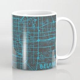Beijing Map #2 map blue Coffee Mug