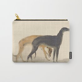 Two Greyhounds Carry-All Pouch