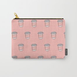 Coffee pattern in pink Carry-All Pouch