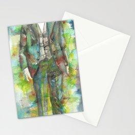 FERNANDO PESSOA - watercolor portrait.2 Stationery Cards