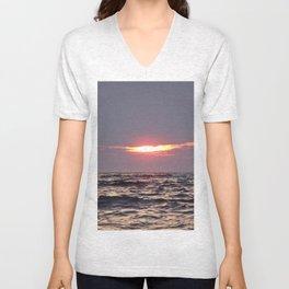 Sunset on the water Unisex V-Neck